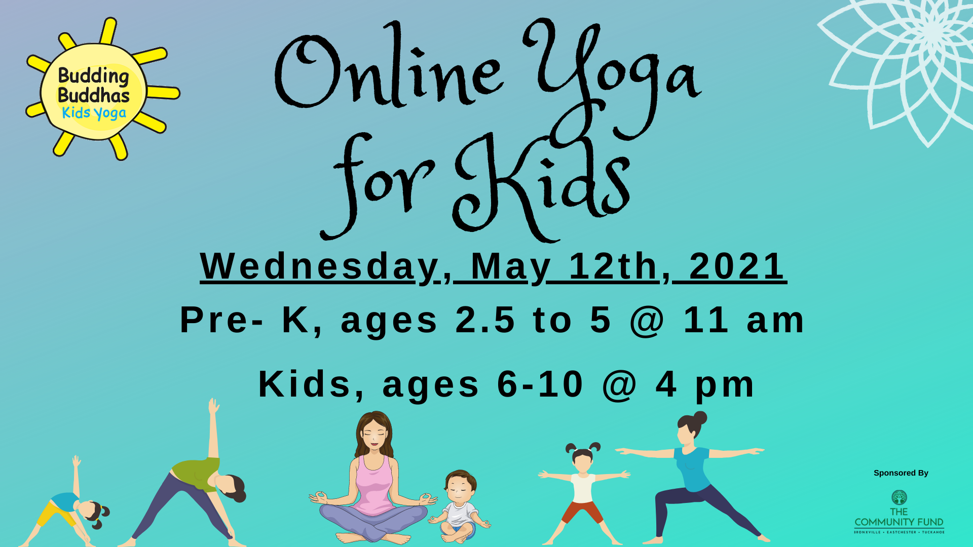 Online Pre-K Yoga with Budding Buddhas, Ages 2.5-5 years