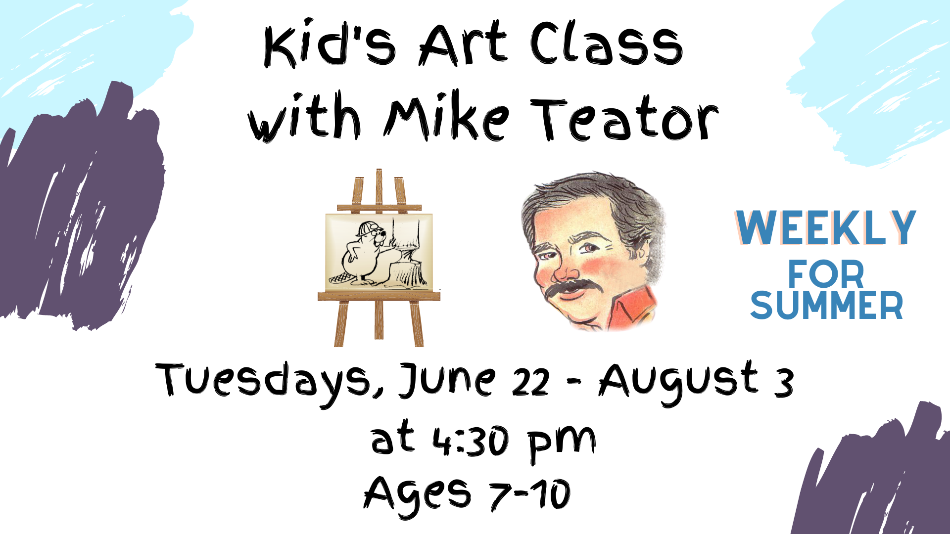 Online Kid's Art Class with Mike Teator, Ages 7-10
