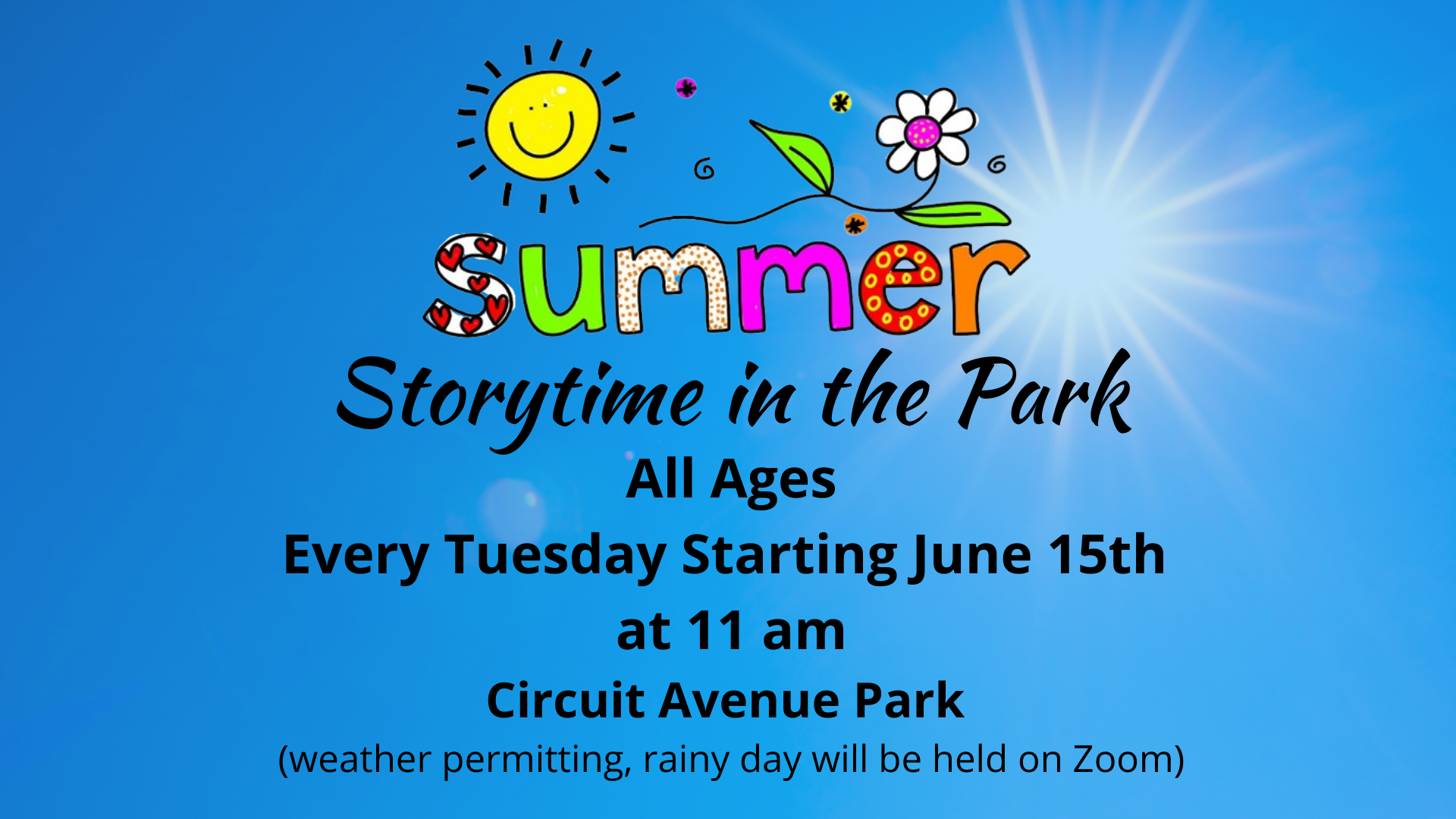 Storytime in the Park - Ages 0-6
