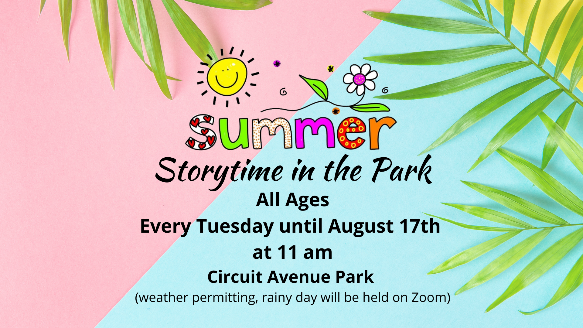 POSTPONED Storytime in the Park - Ages 0-6