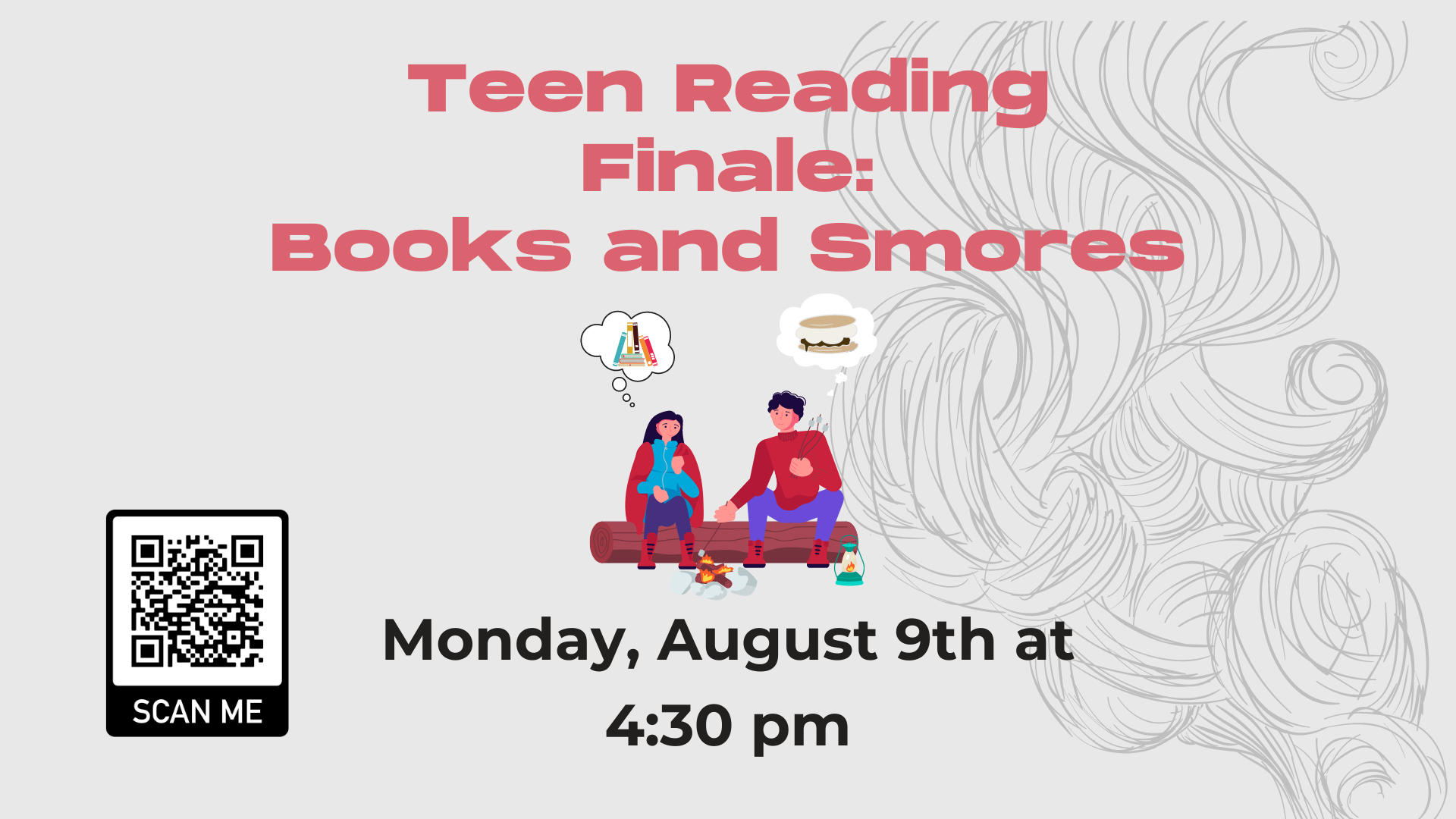 Teen Reading Finale - Books and Smores