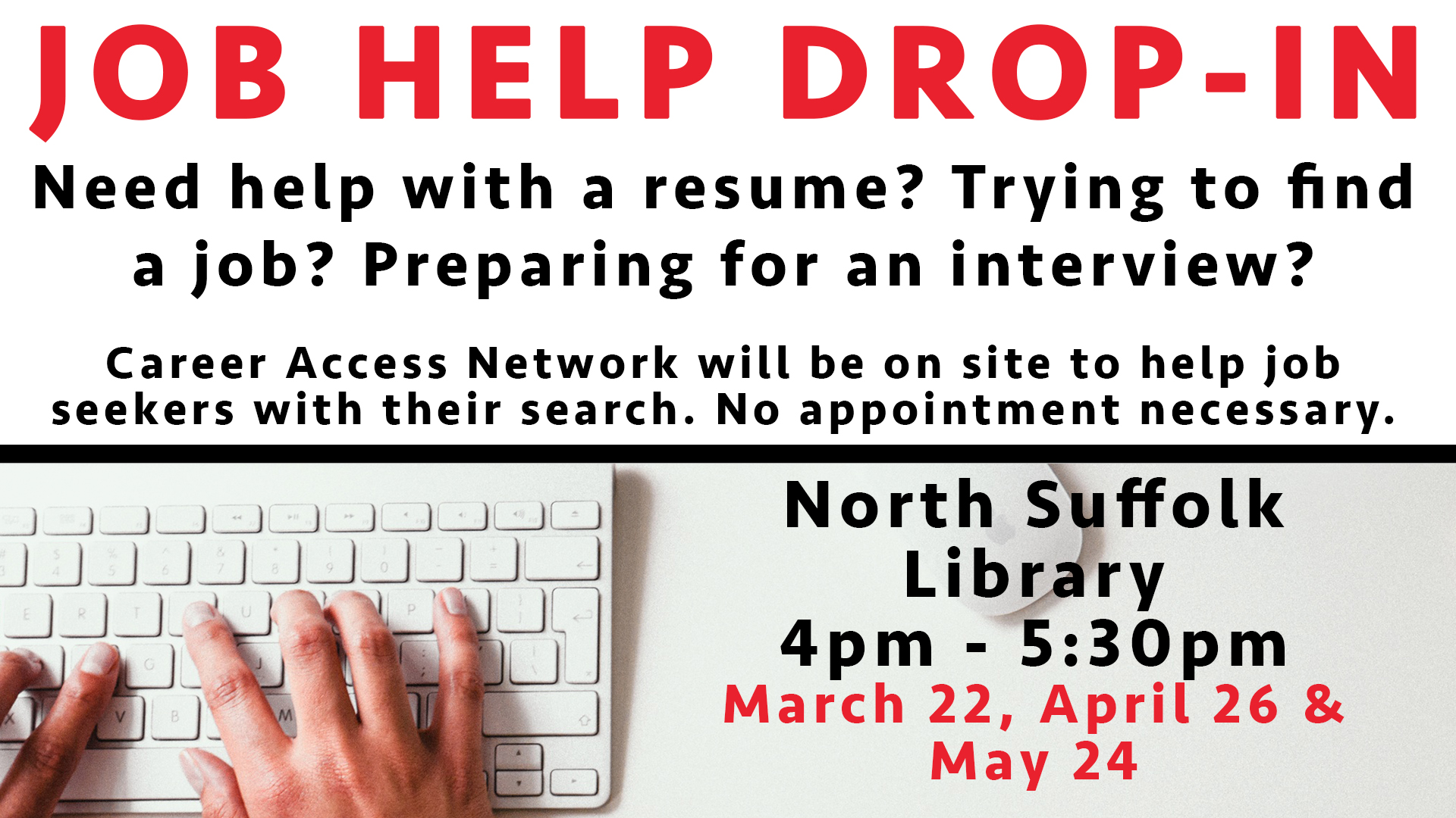 Job Help Drop-In with the Career Access Network
