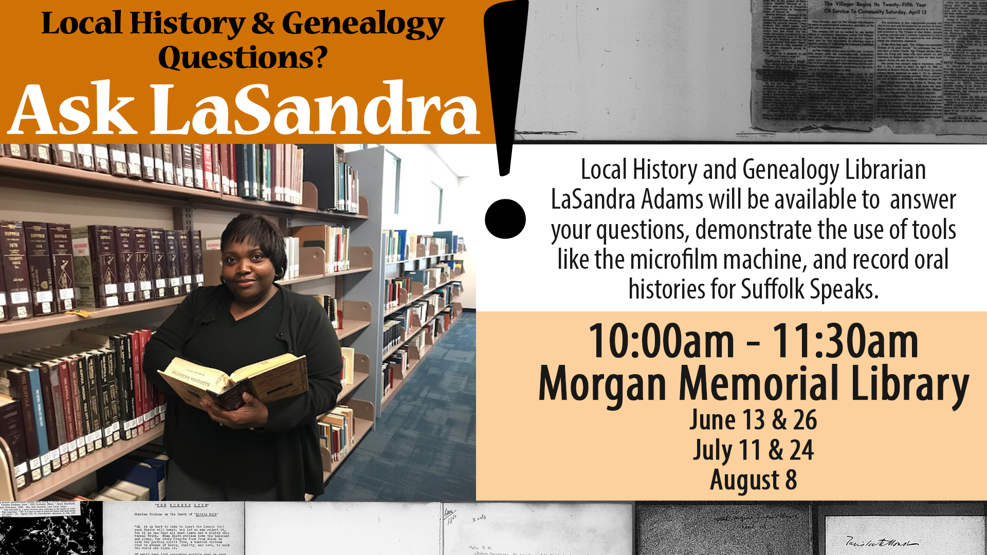 Local History and Genealogy Questions? Ask LaSandra!