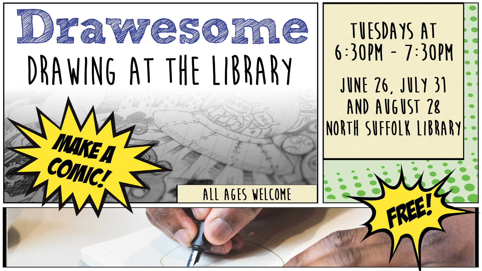 Drawesome @ the Library
