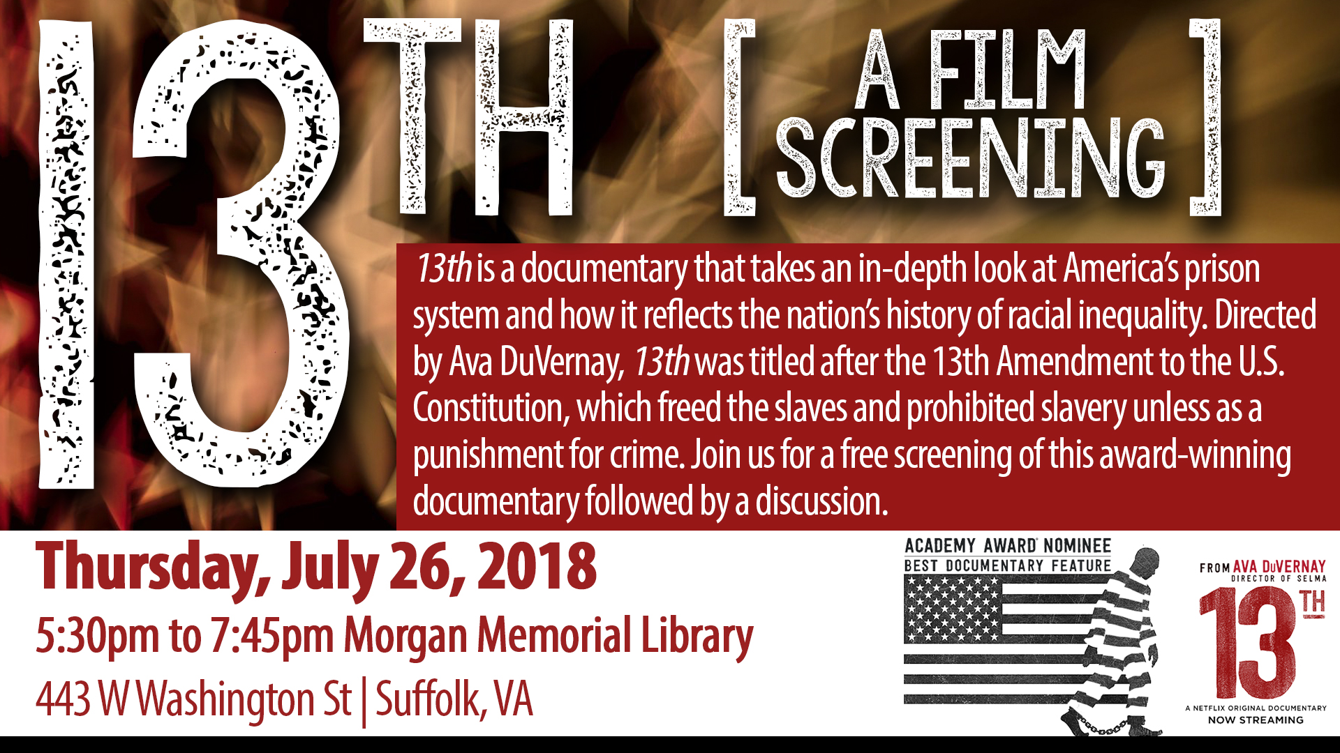 13th: A Film Screening