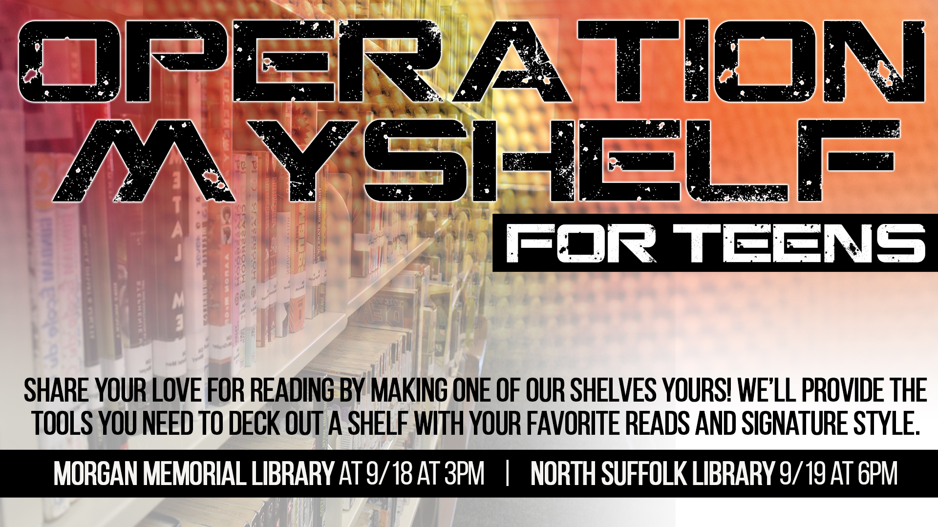 Operation MyShelf for Teens