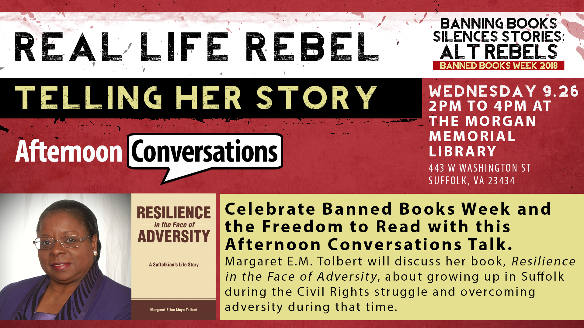 Afternoon Conversations Real Life Rebel: Telling Her Story