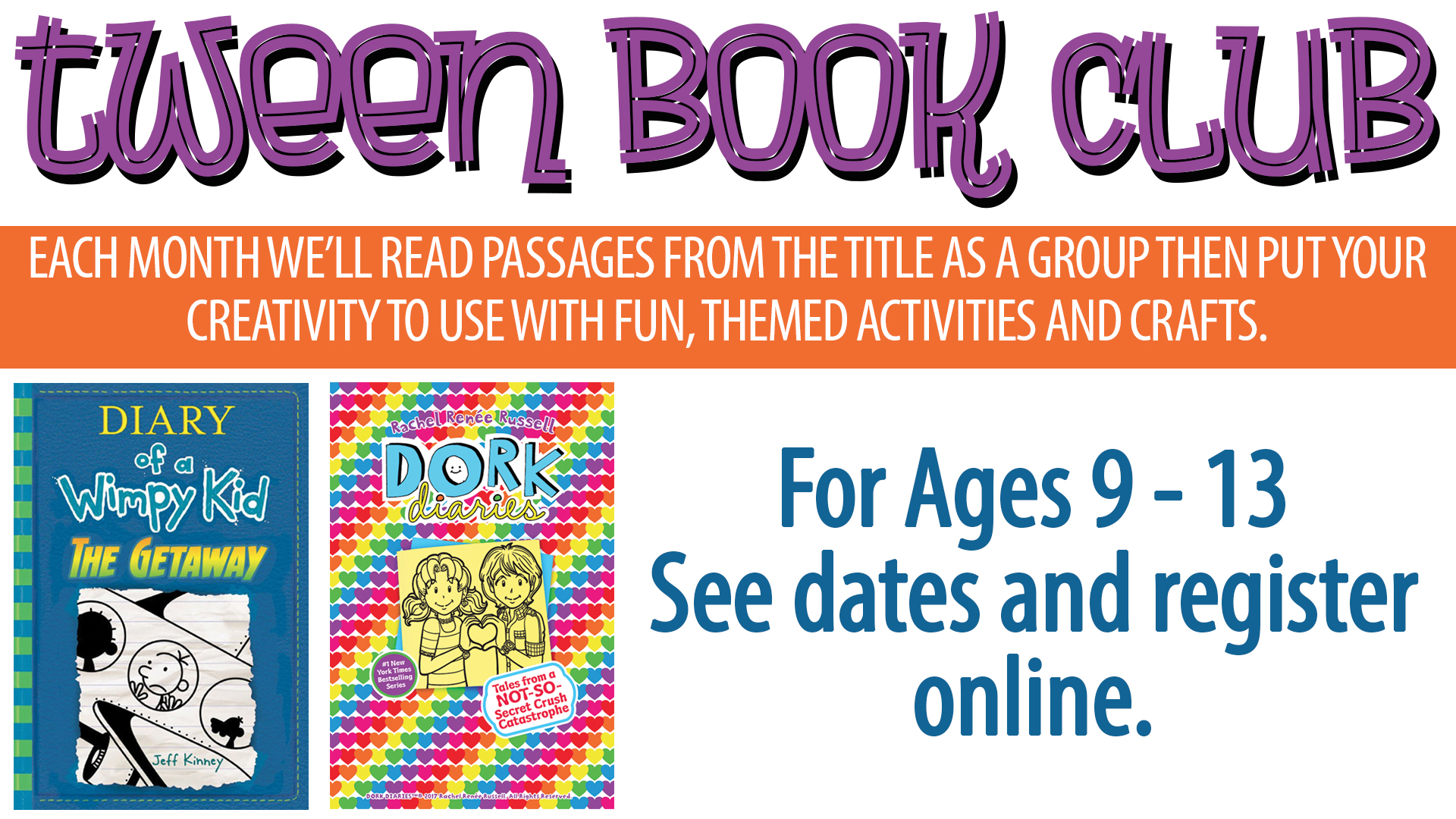 Tween Book Club:  Dork Diaries