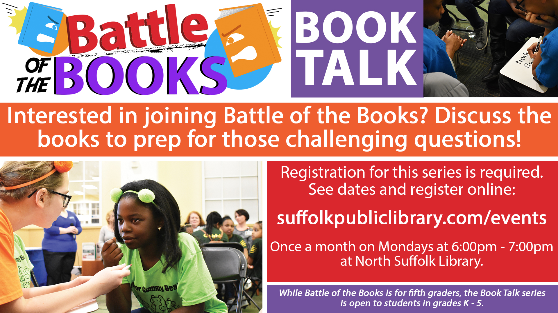 Battle of the Books:  Book Talks