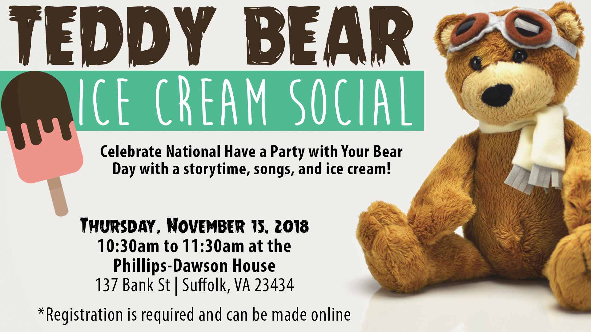 Teddy Bear Ice Cream Social