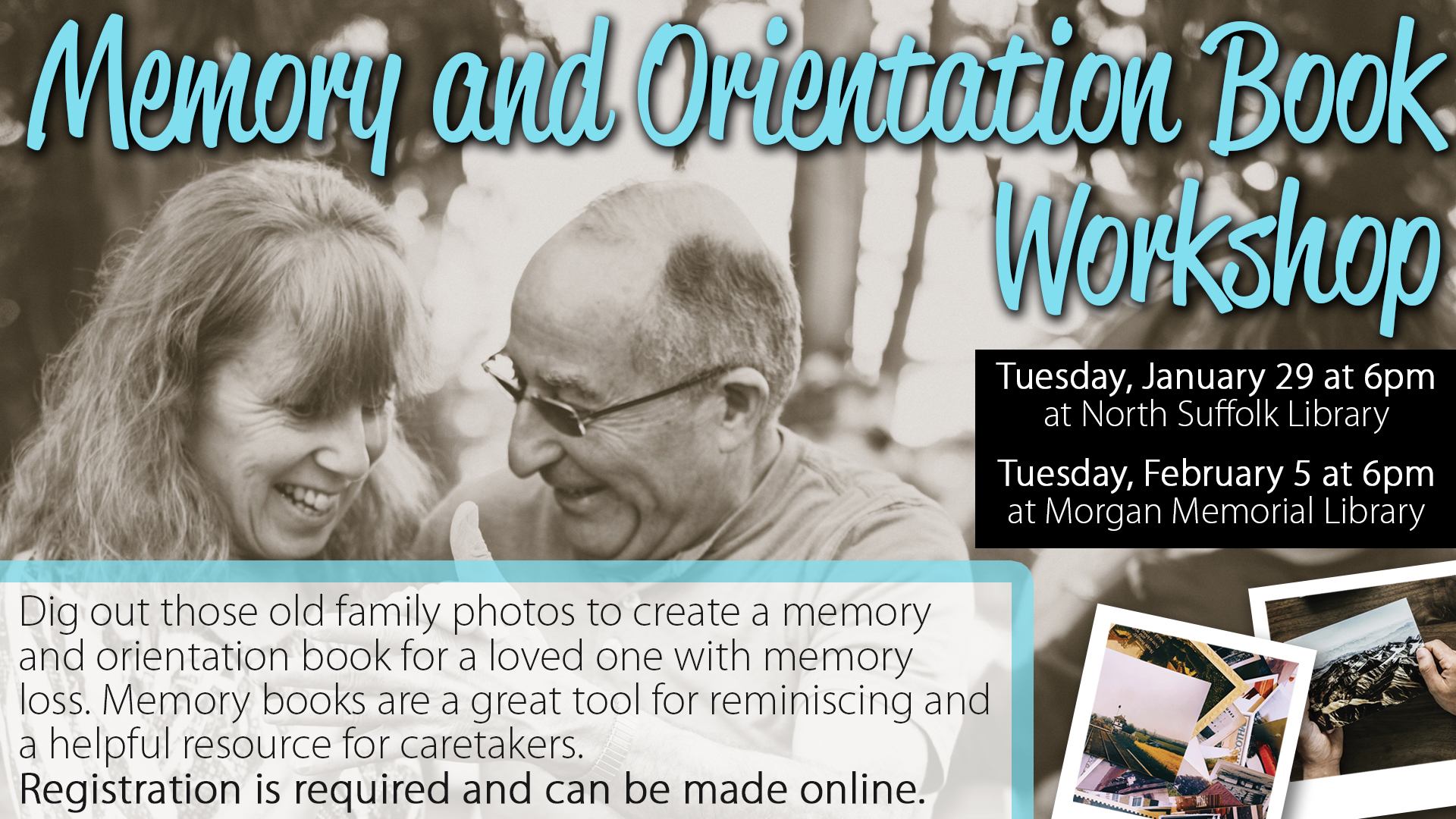 Memory and Orientation Book Workshop