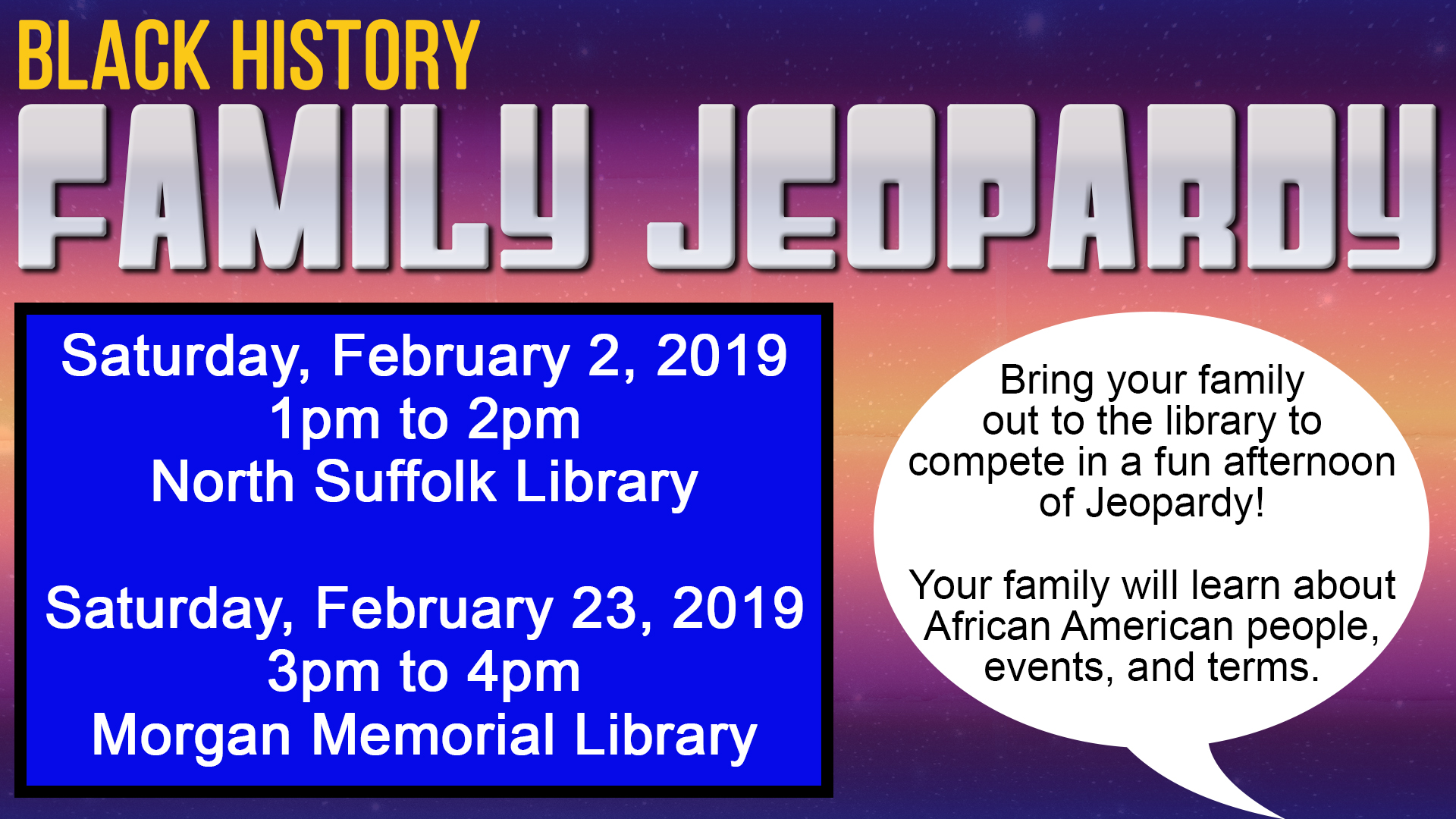 Black History Family Jeopardy
