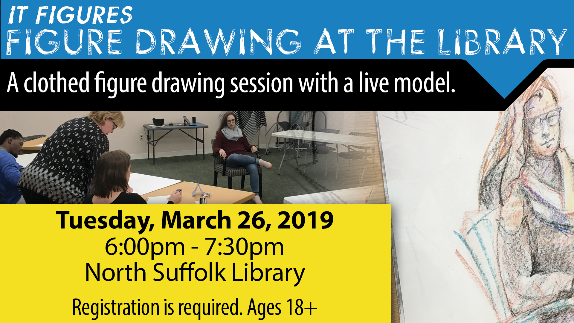 It Figures: Figure drawing @ the Library
