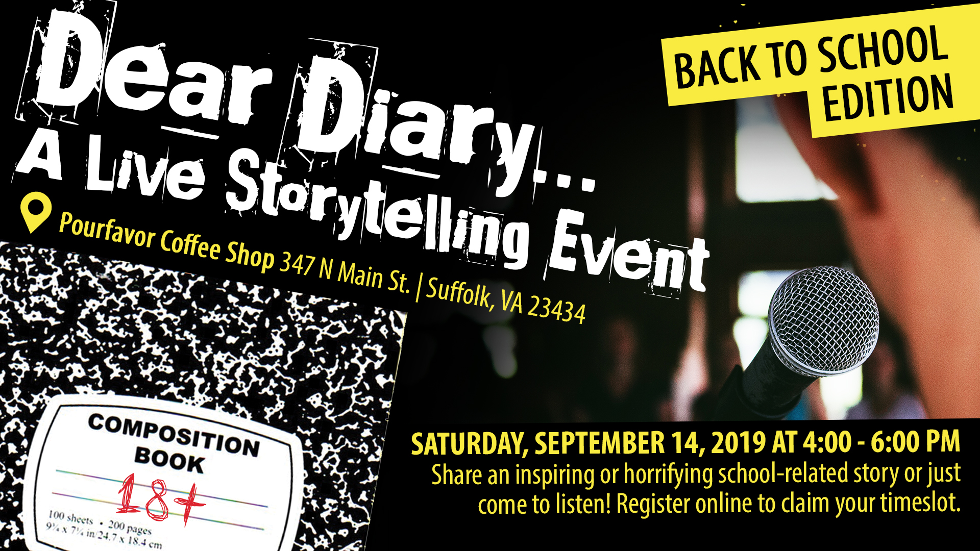 Dear Diary... A Live SPL Storytelling Event