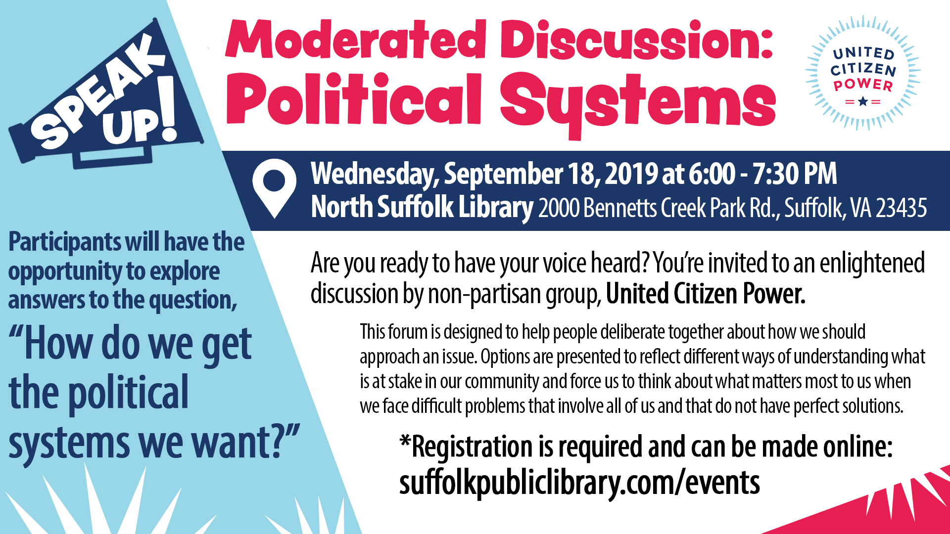 Speak Up! Moderated Discussion: Political Systems
