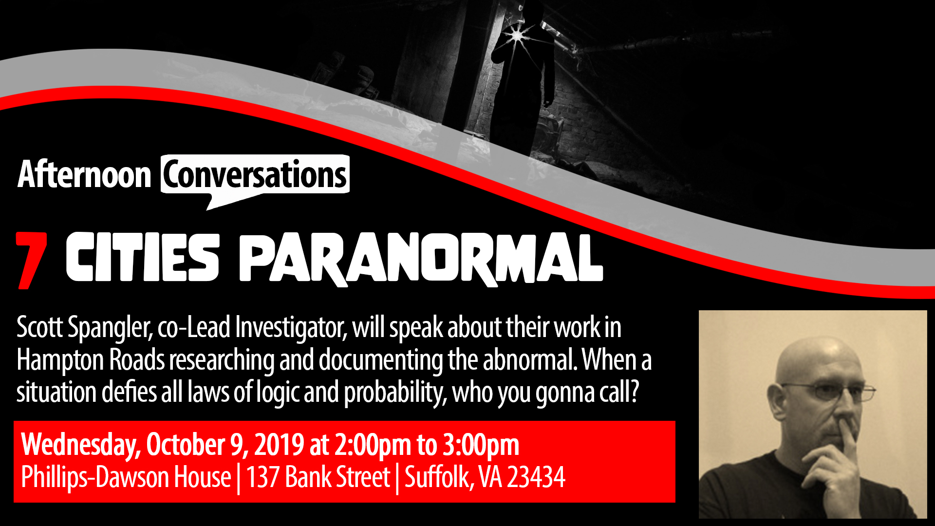 Afternoon Conversations:  7 Cities Paranormal