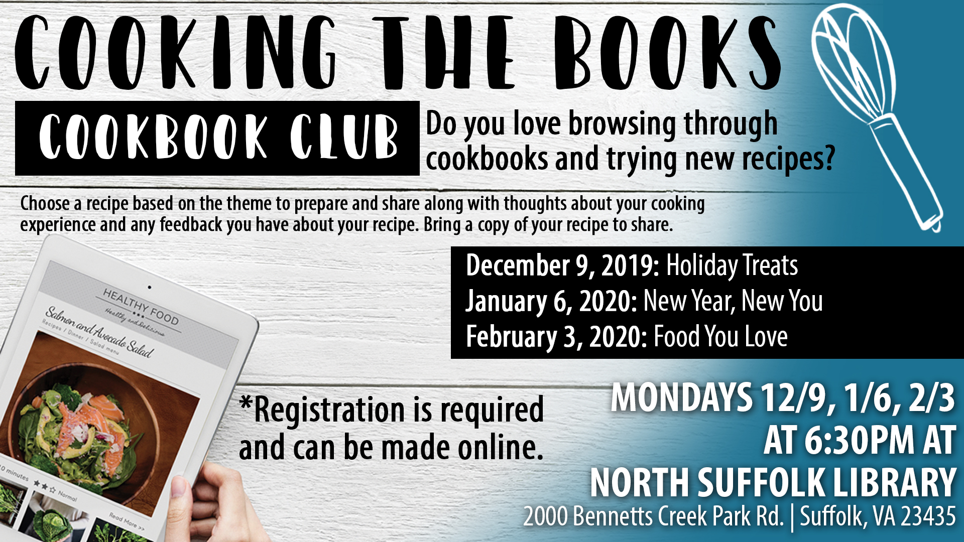 Cooking the Books, Book Club
