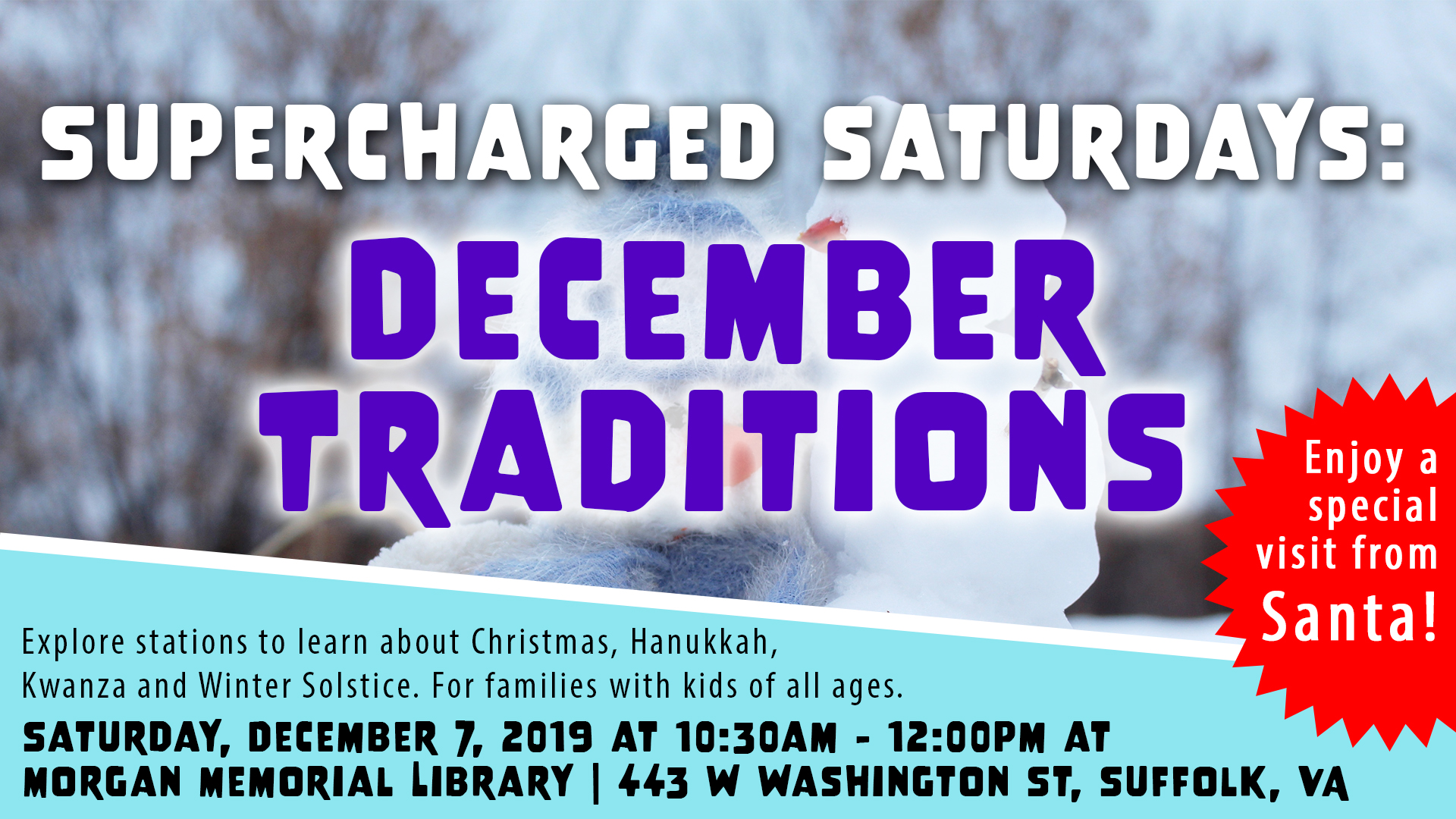 Supercharged Saturdays: December Traditions