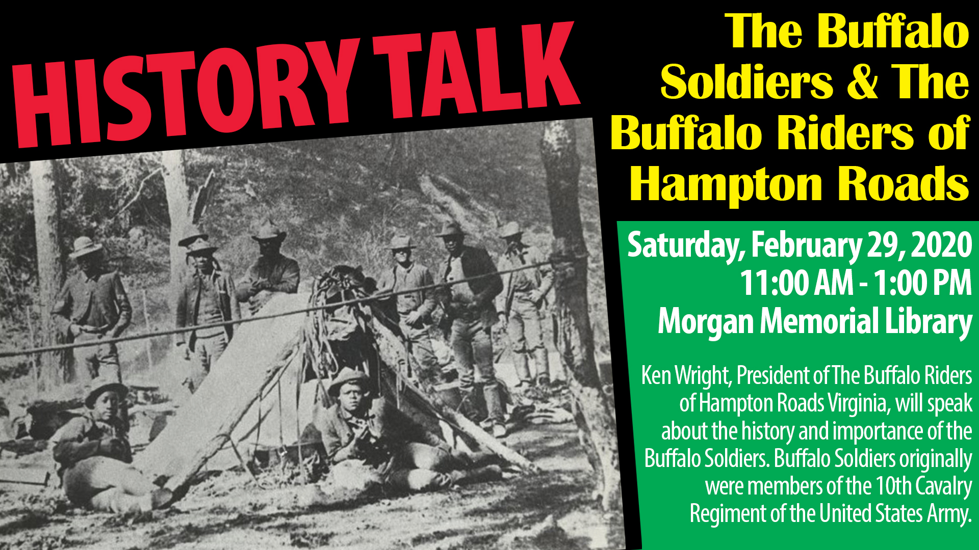 History Talk: The Buffalo Soldiers & The Buffalo Riders of the Hampton Roads