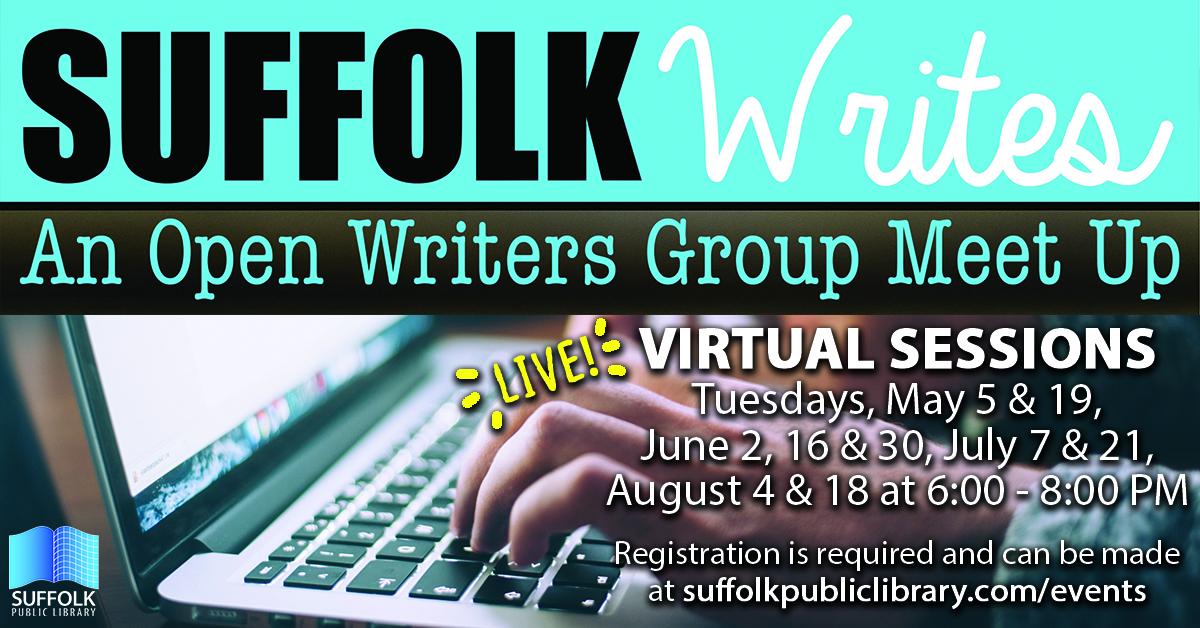 Virtual Suffolk Writes: An Open Writers Group Meet Up [LIVE]