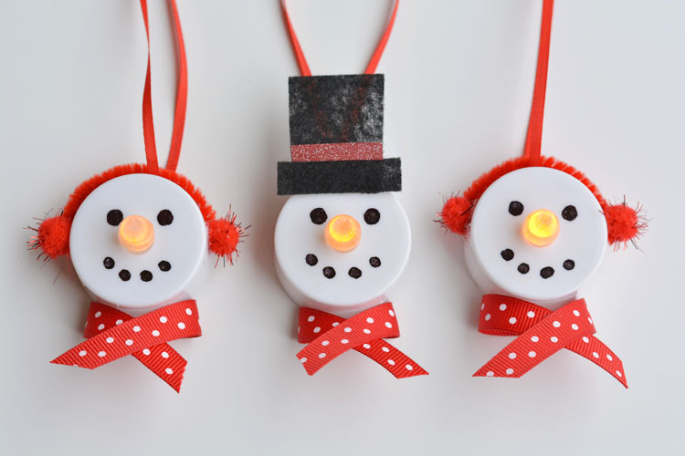 Make & Take: Tea Light Snowman Ornaments