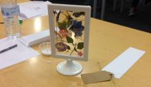 Adult Craft: Framed Flowers