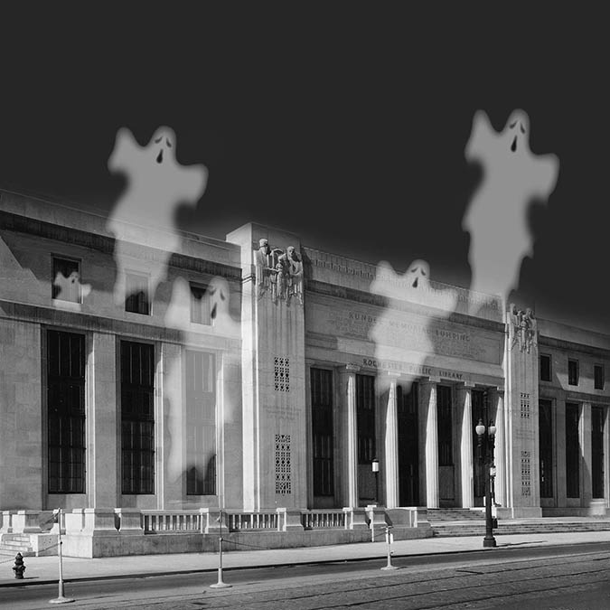 Spooky Stories in the Stacks (ticketed event -- part of Fringe Festival @ Central Library)