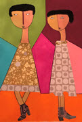 "Paintings by Gail Johnson ""Colored Girls"" in Central Library's Link Gallery"