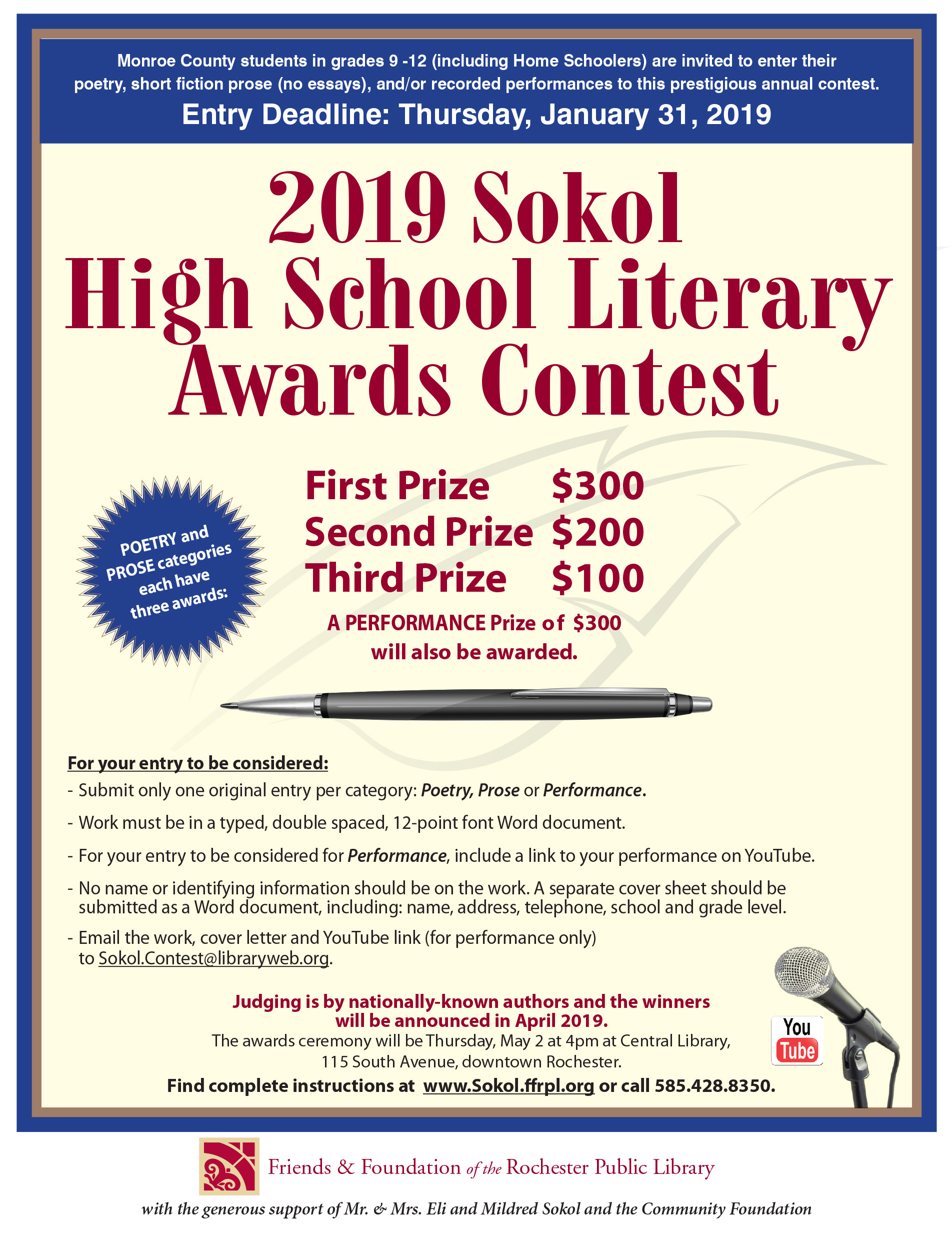 Sokol H.S. Literary Awards Ceremony