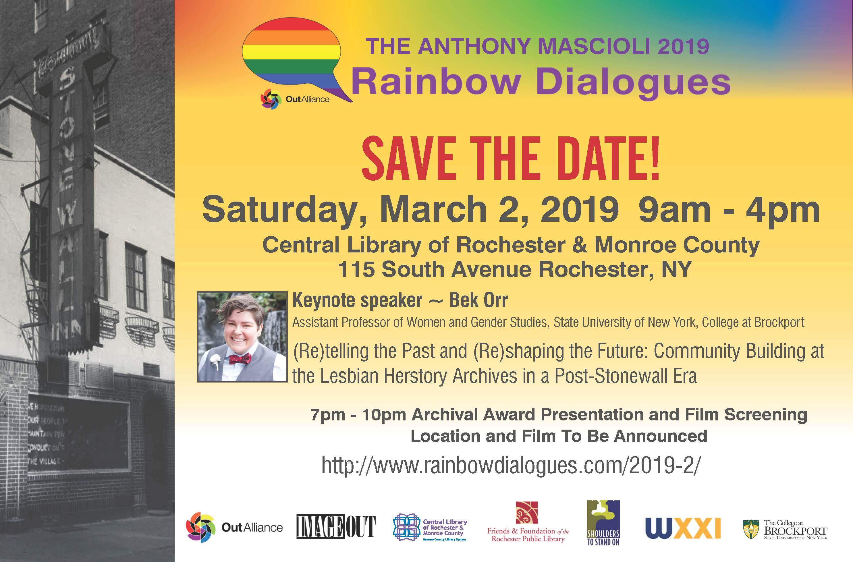 The Anthony Mascioli 2019 Rainbow Dialogues