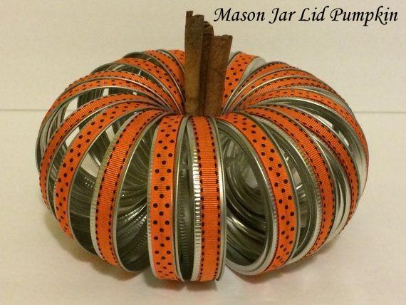 Create a Decorative Mason Jar Halloween Pumpkin