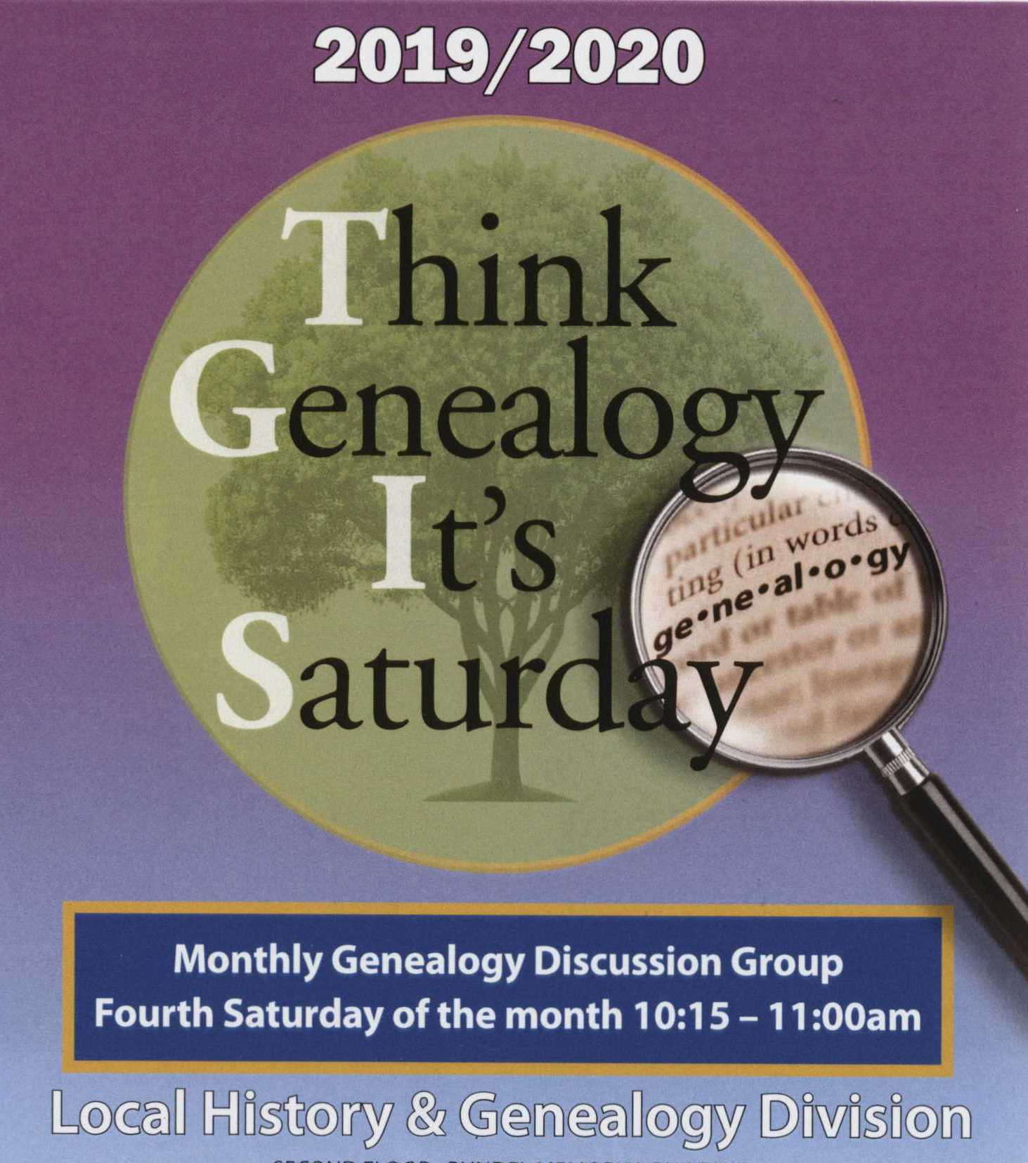 T.G.I.S. - Think Genealogy It's Saturday