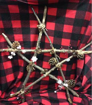 Rustic Winter Twig Stars