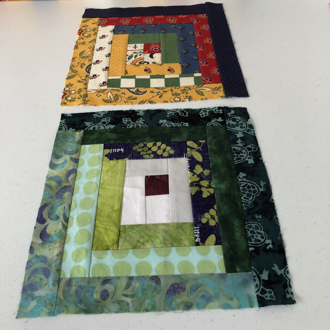 Sewing Quilt Blocks with SewGreen@Rochester: Log Cabin Block