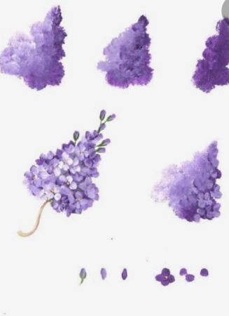 Painting Beautiful Spring Lilacs