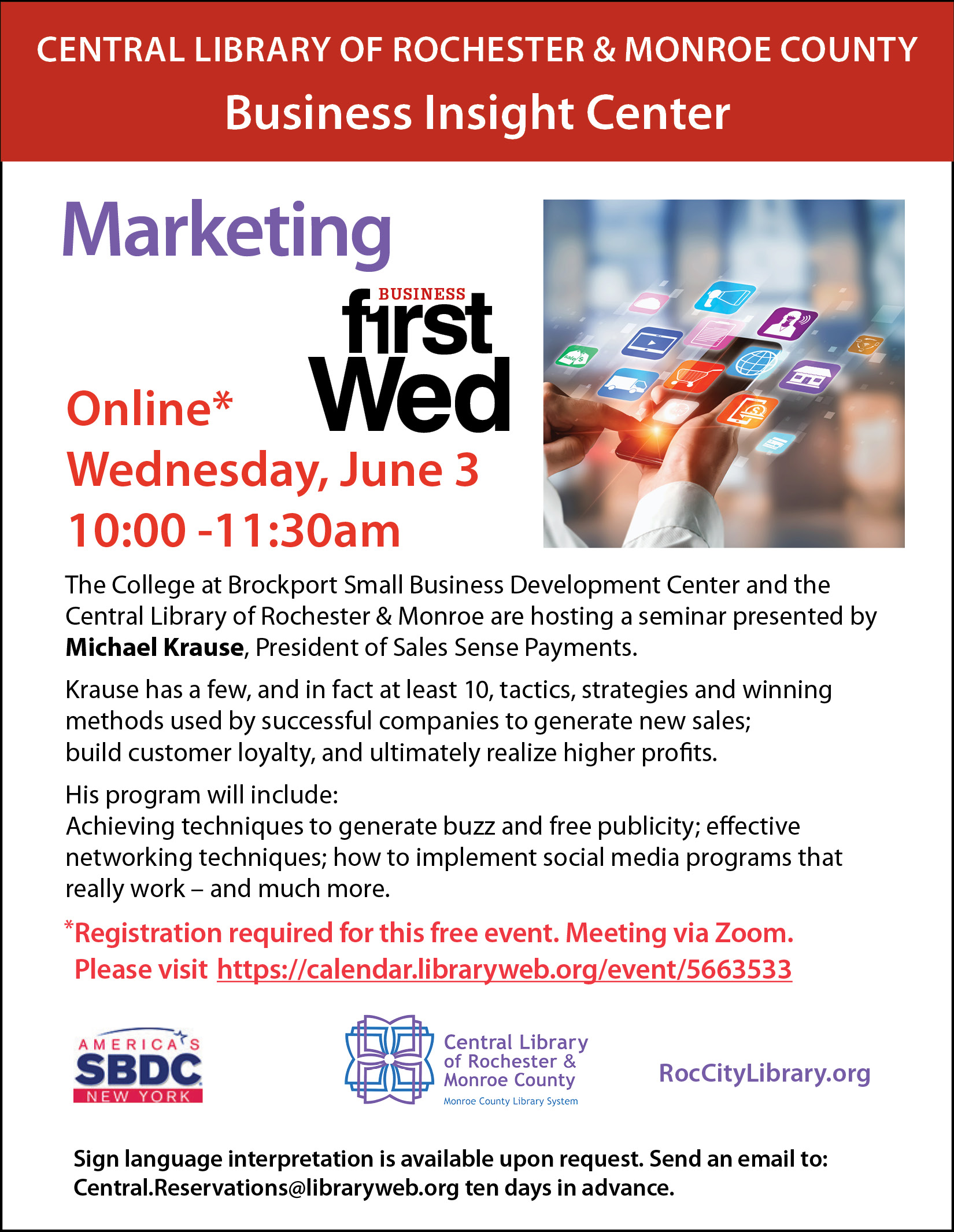 First Wednesdays for Small Business - Sales and Marketing