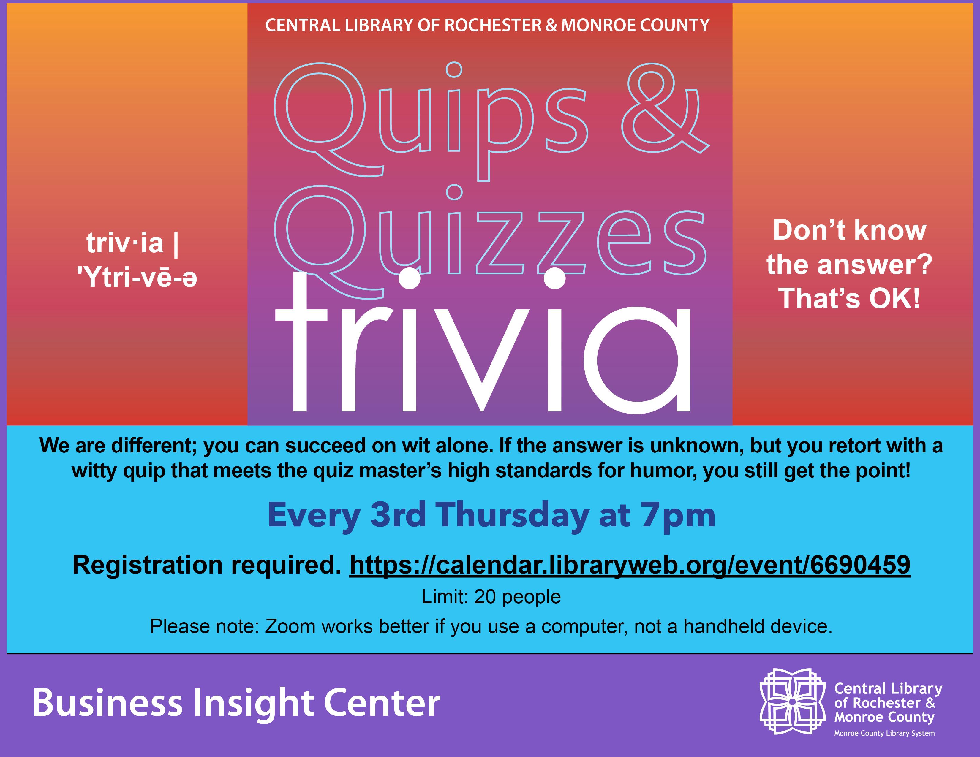 Quips & Quizzes