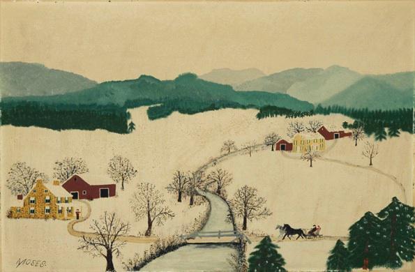 Draw a Grandma Moses Winter Scene in Colored Pencils