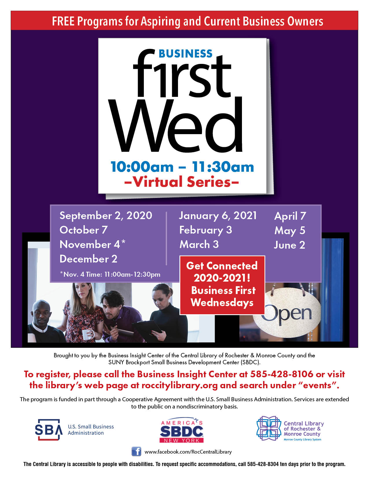 Business First Wednesday - Paycheck Protection Program and EIDL Updates Straight from the SBA