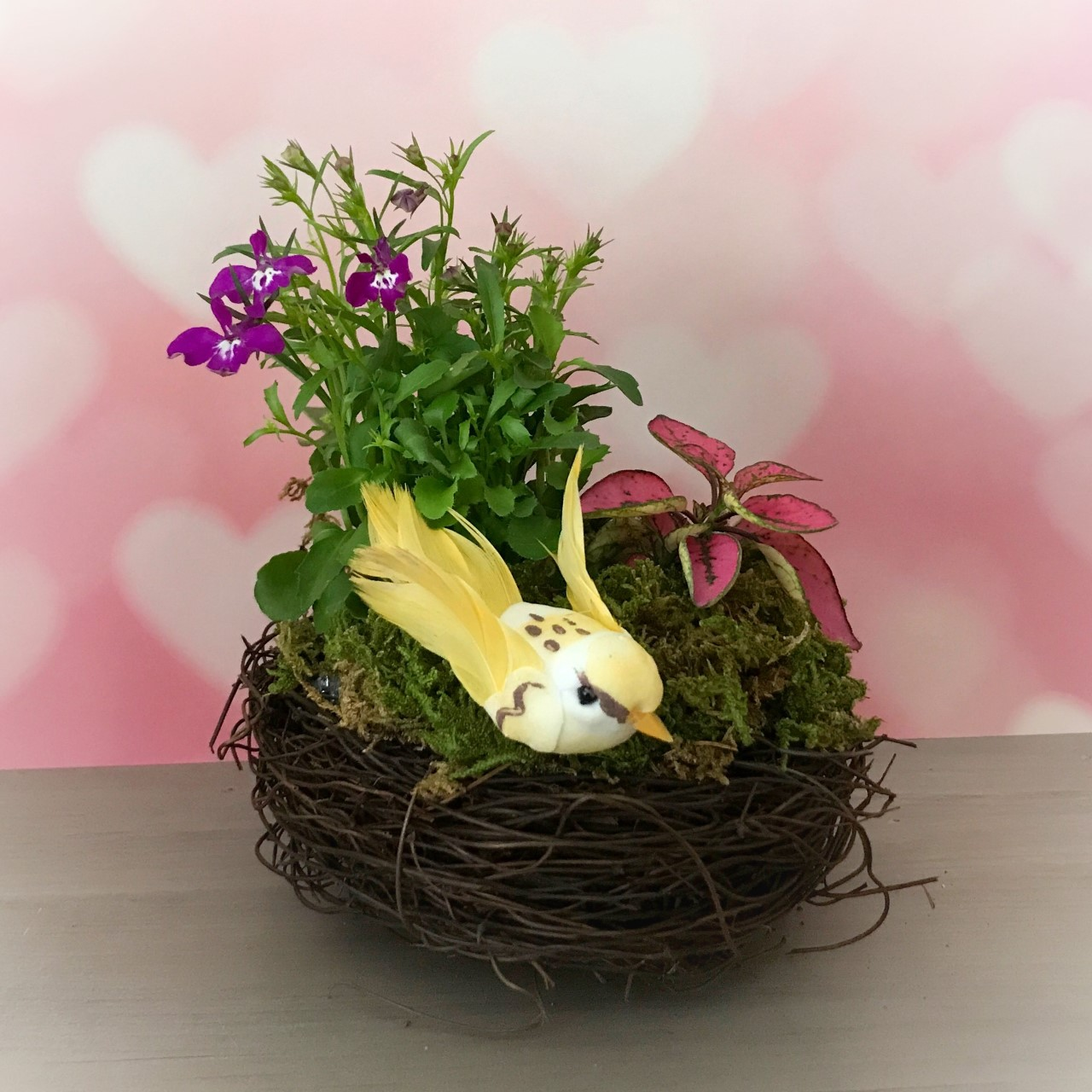Make as Spring Bird's Nest for Mother's Day