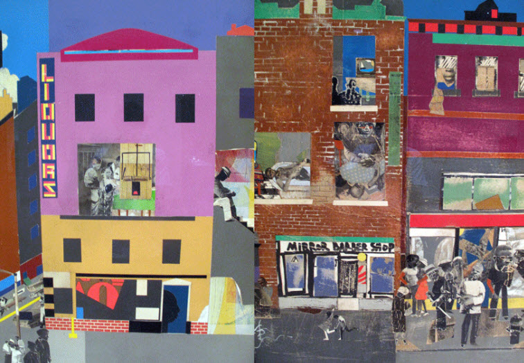 Create a Drawing in the Style of African American Artist Romare Bearden