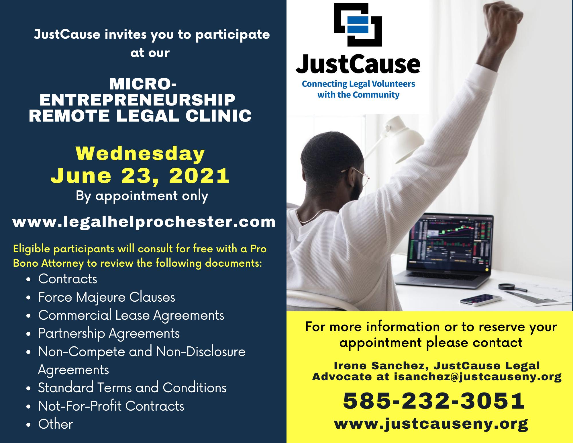 Micro-Entrepreneurship Remote Legal Clinic