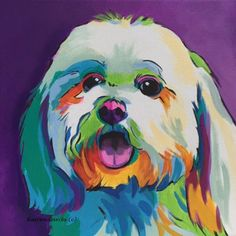 Drawing a Dog in Pop Art Style