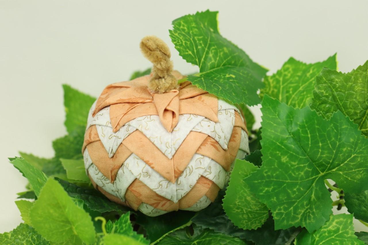 Make a Folded Fabric Pumpkin for Halloween