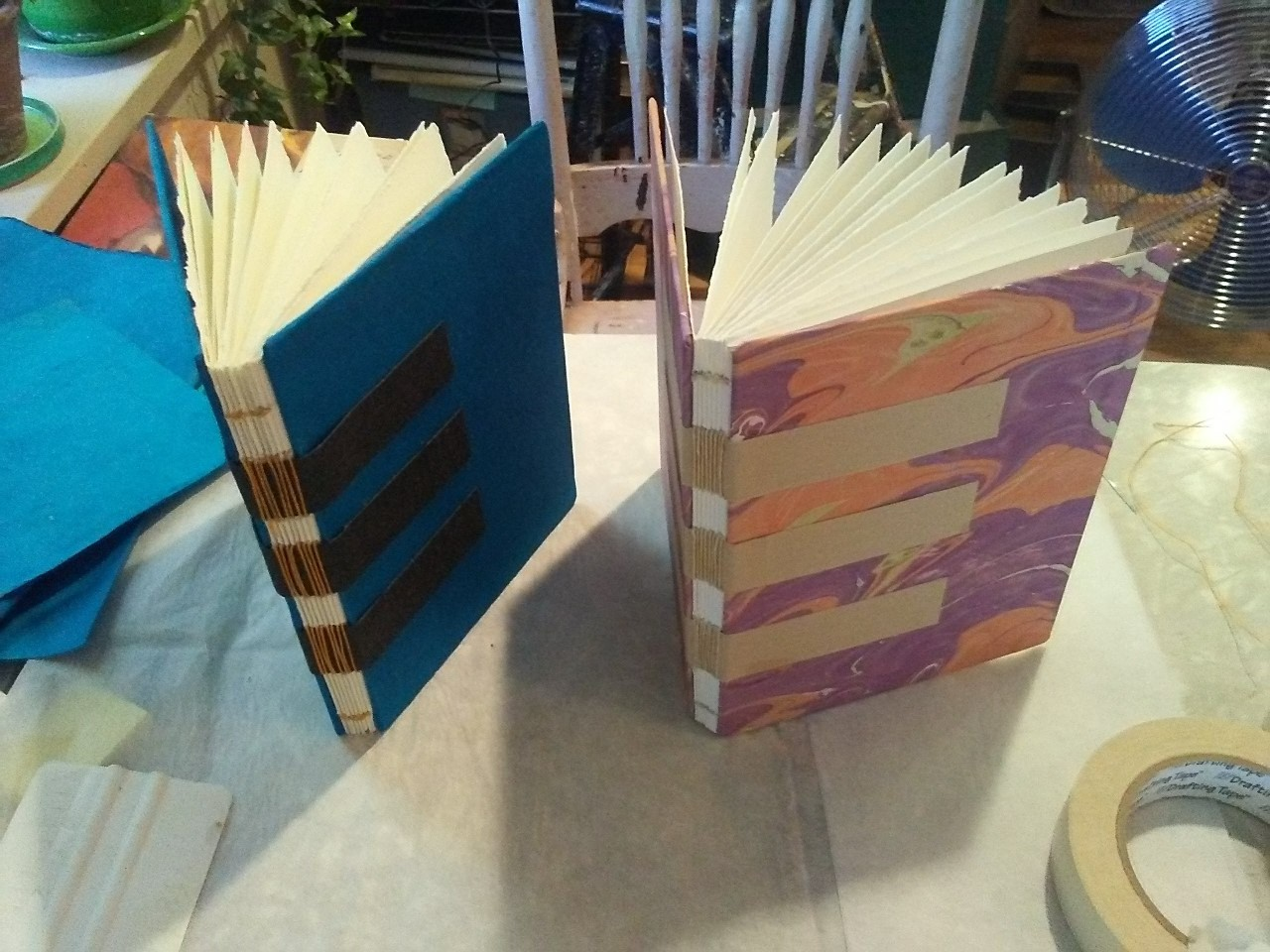 Learn the Sewn-on-tapes Book Binding Method