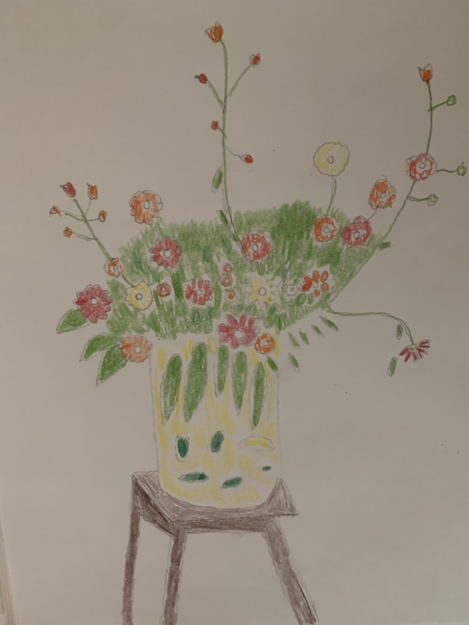 Draw a Vase Filled with Fall Flowers