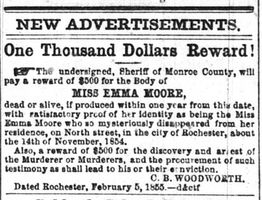 Mourning in the Morning - Rochester Mystery: the Disappearance of Emma Moore