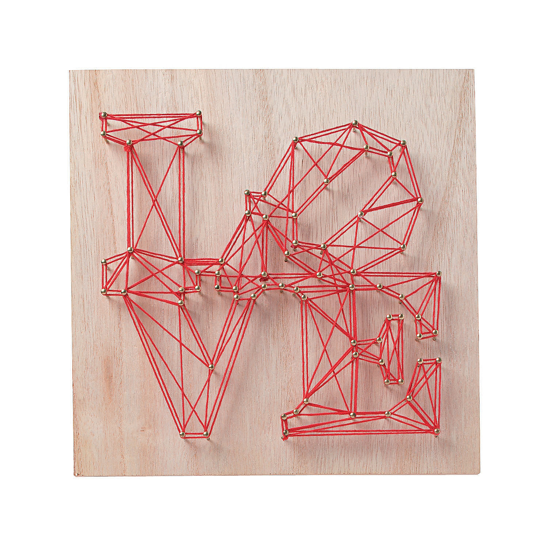 Teen D.I.Y. Activity via Zoom: Love String Art
