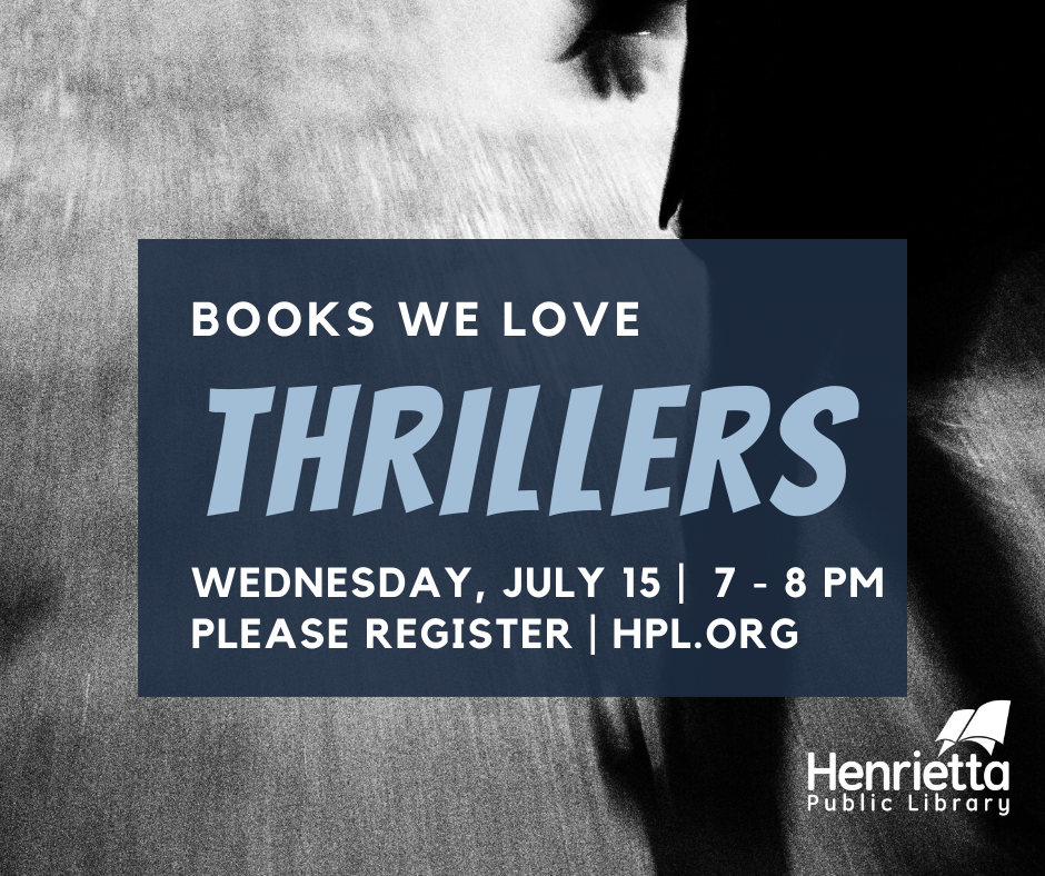 Thrillers We Love Virtual Book Discussion