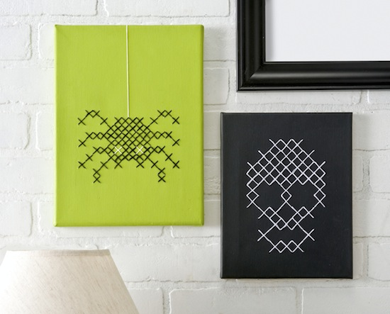 Middle School Crafternoon: Spooky Cross-Stitch Canvases